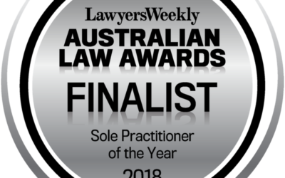 Finalist 2018 – Lawyers Weekly Australian Law Awards