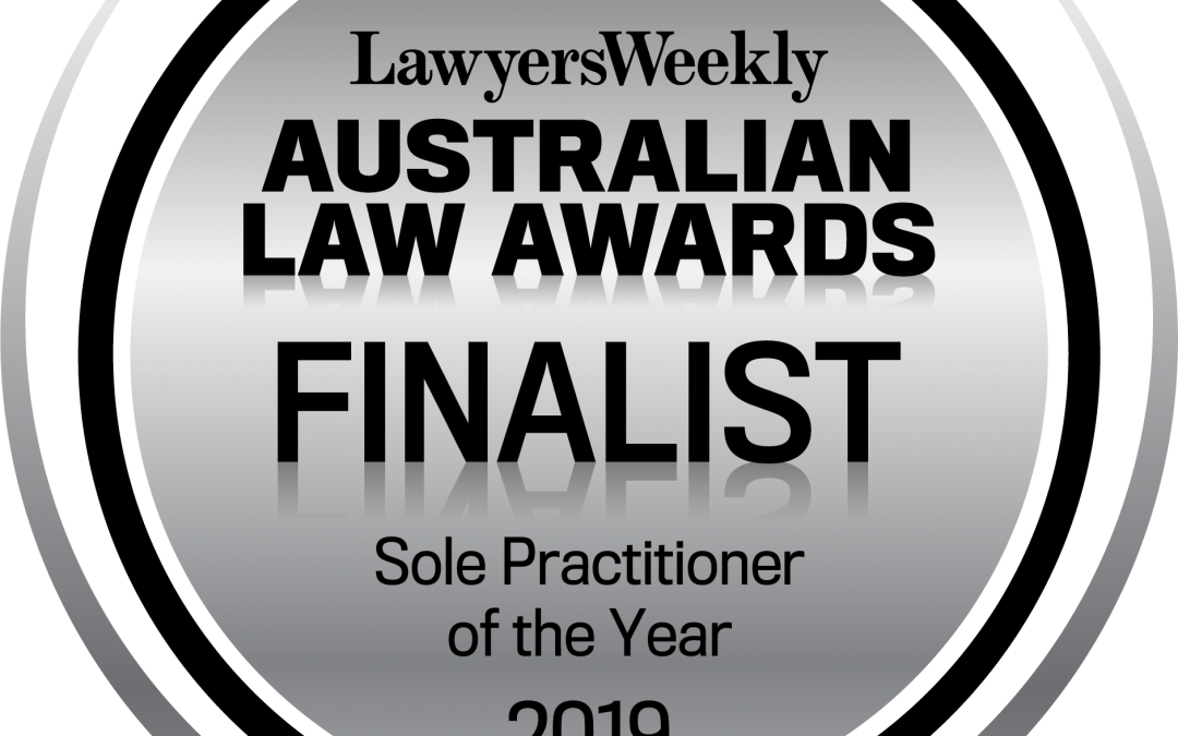 Finalist 2019 – Lawyers Weekly Australian Law Awards