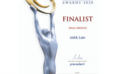 AMK Law Finalist, Legal Service Category of Small Business Champion Awards 2020